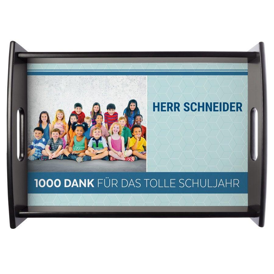 Individuellküchenzubehör - Fototablett Lehrer Groß Schwarz - Onlineshop YourSurprise