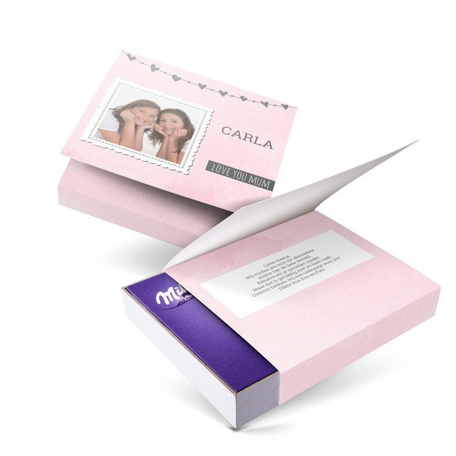 Milka giftbox bedrukken - Moederdag - 220 gram