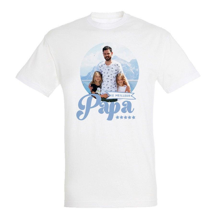 T-shirt Fête des Pères - Homme - Blanc - S