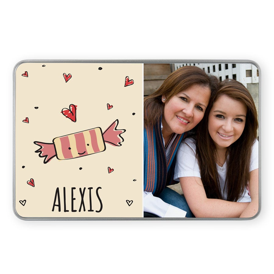 Personalised sweet tin - rectangular