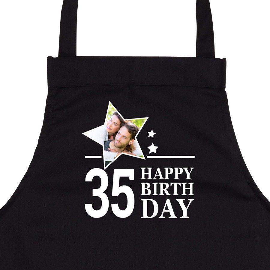 Verjaardagsschort - zwart
