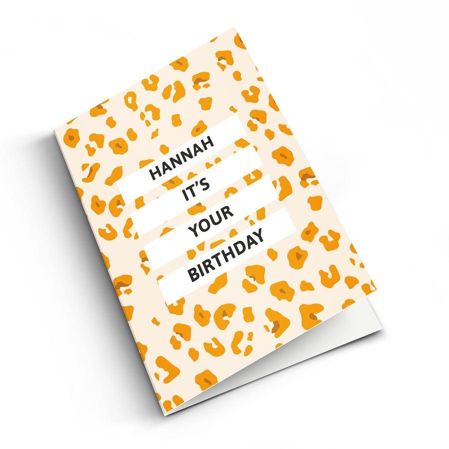 - Geburtstagskarten mit Foto XL Vertikal - Onlineshop YourSurprise