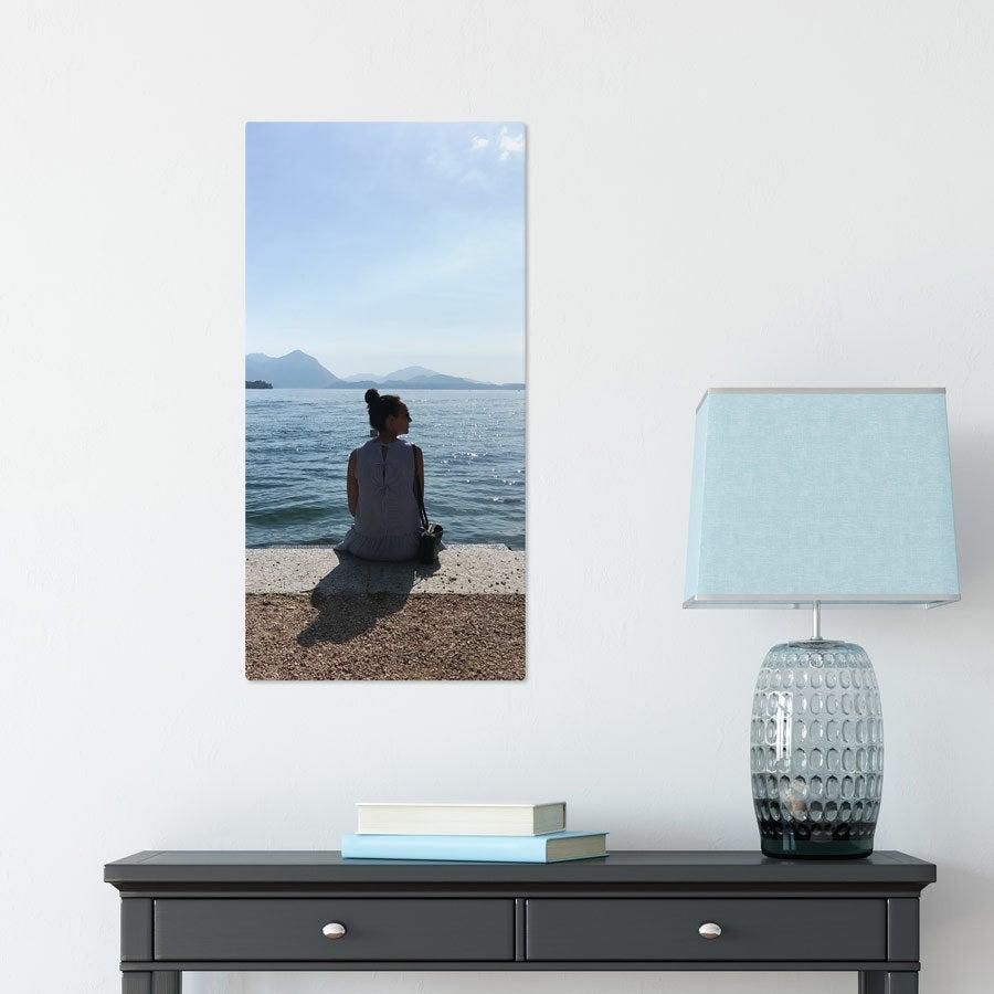 Foto op aluminium afdrukken - Wit (ChromaLuxe) - 30 x 60 cm