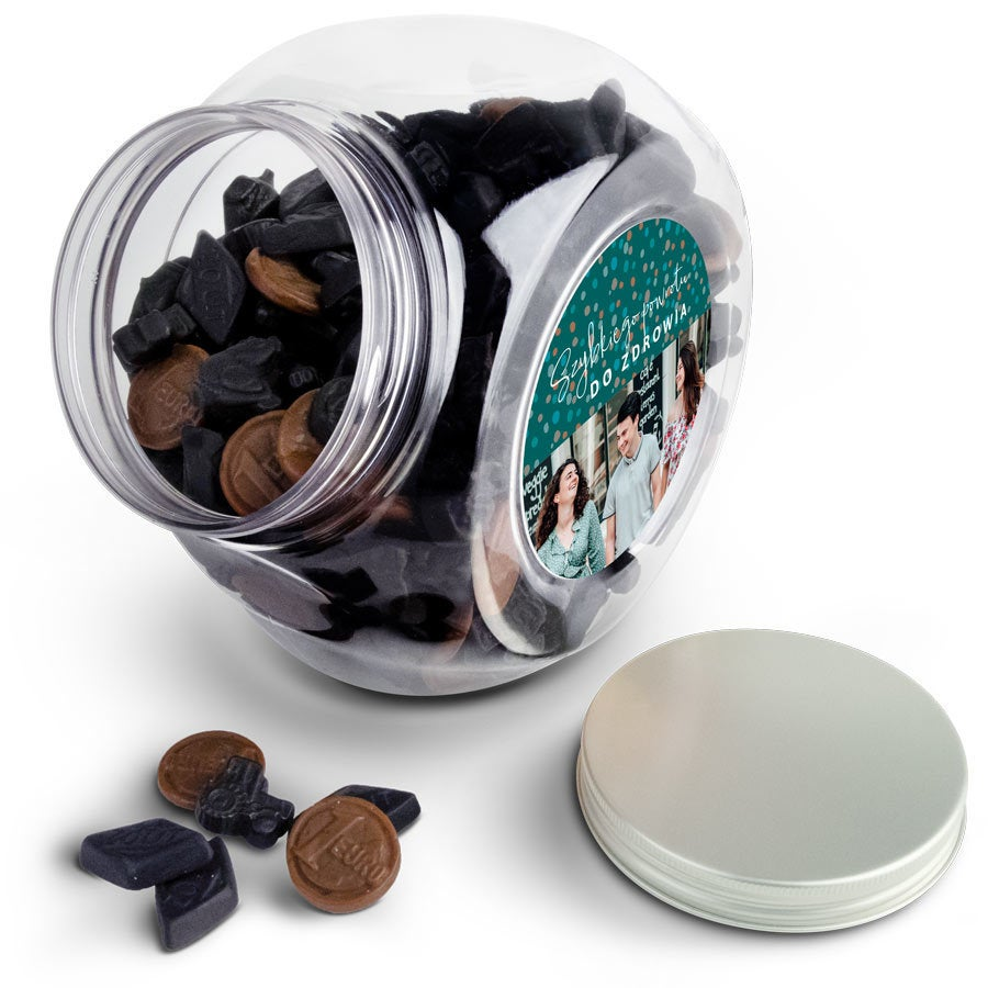 Personalizowany słój ze słodyczami - Mieszanka Lukrecji