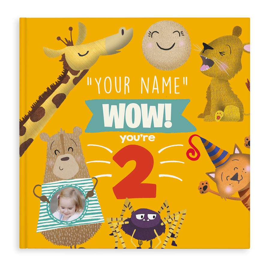 Children's book with name - Wow! You're 2 - Hardcover