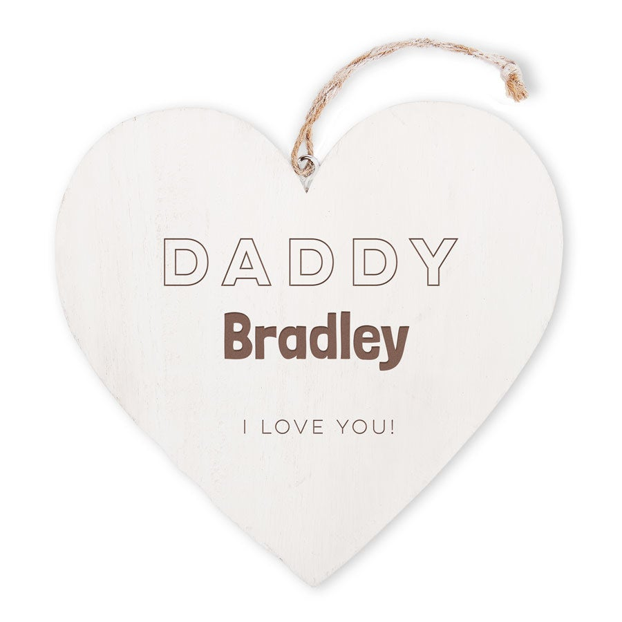Father's Day - wooden heart