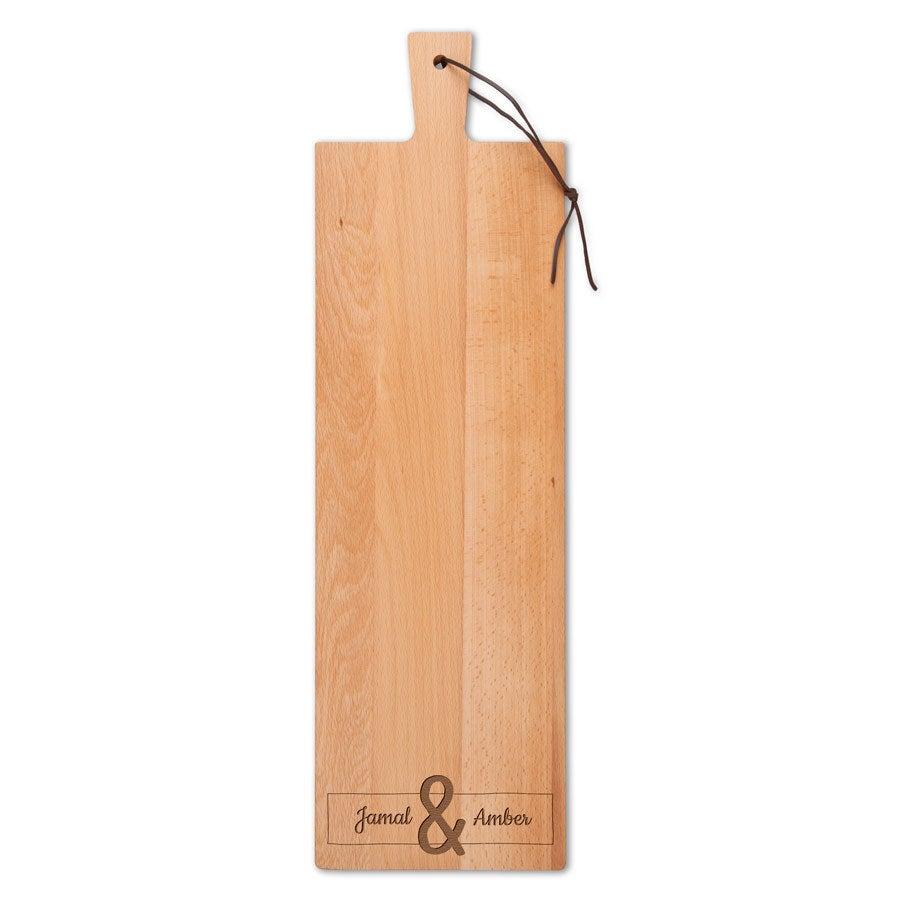 Houten serveerplank - Beuken - Langwerpig - staand (M)