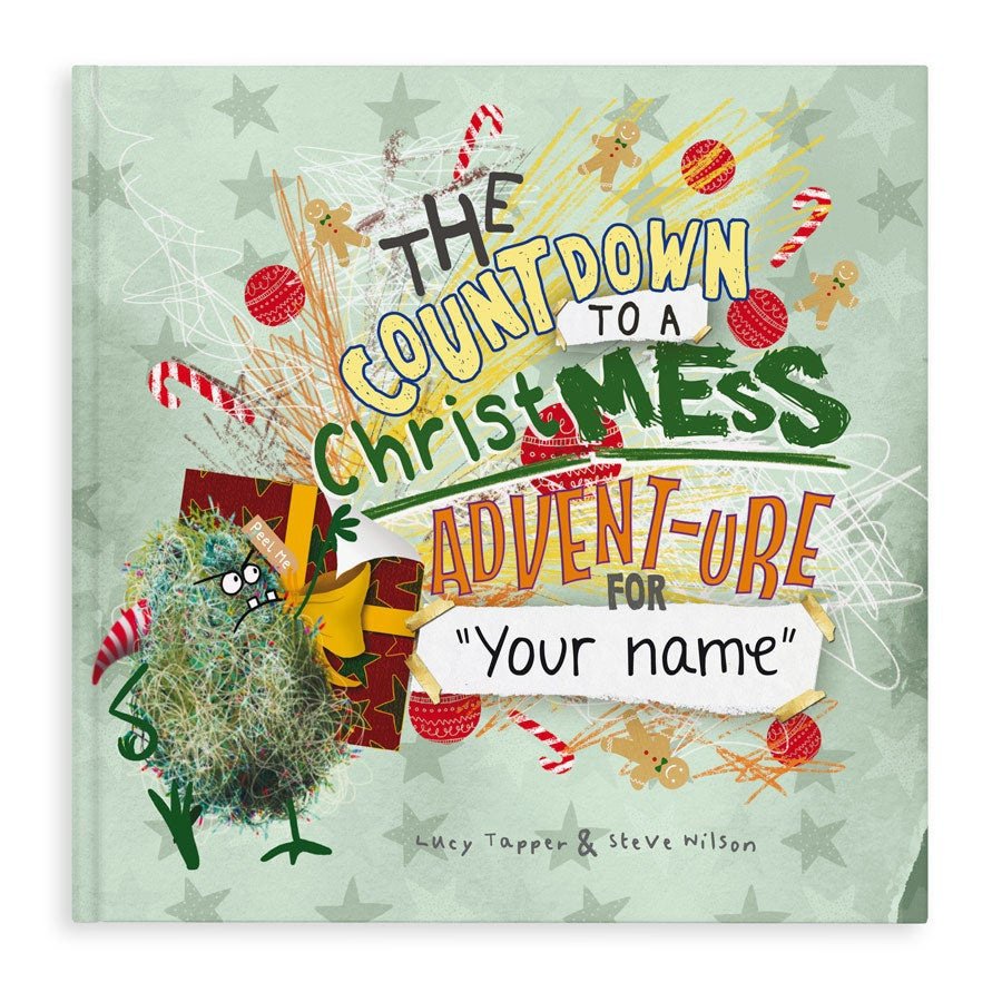 Book with name - ChristMESS activity book - Hardcover