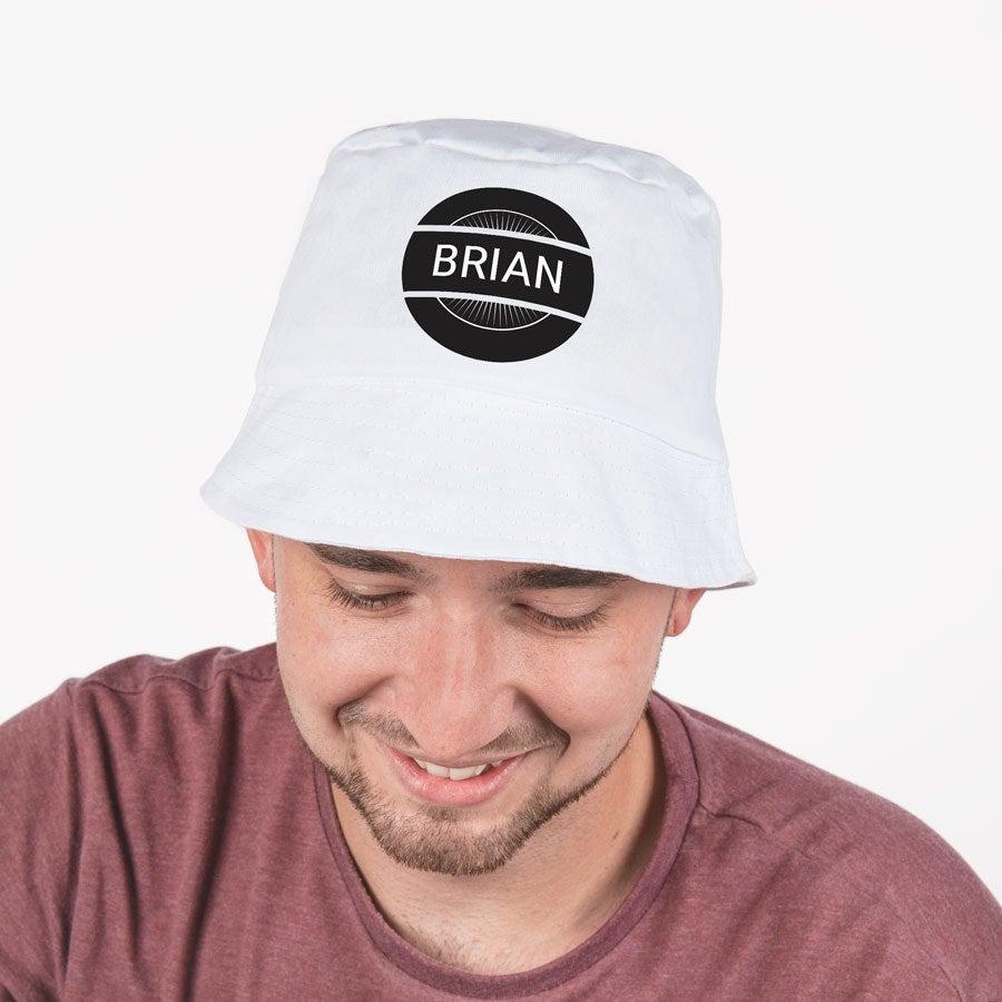 Slnečný klobúk - biely