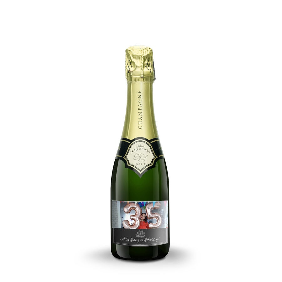 Champagner mit personalisiertem Etikett - Rene Schloesser (375ml)