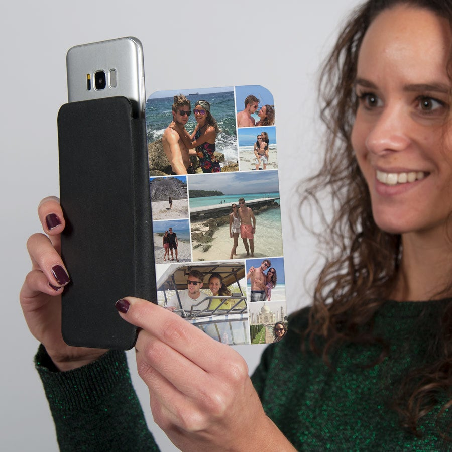 Flip telefoonhoesje met foto - L