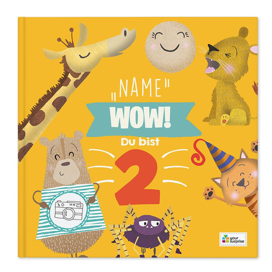 Kinderbuch mit Namen - Wow, du bist 2! - Hardcover
