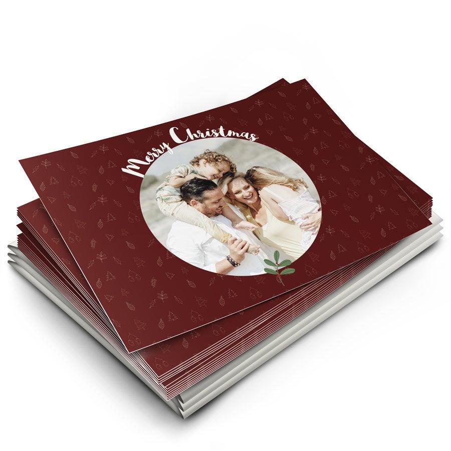 Yksilölliset joulukortit omalla kuvalla - 12 korttia