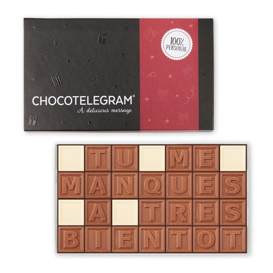 Chocotelegram - Coffret cadeau 4 x 7