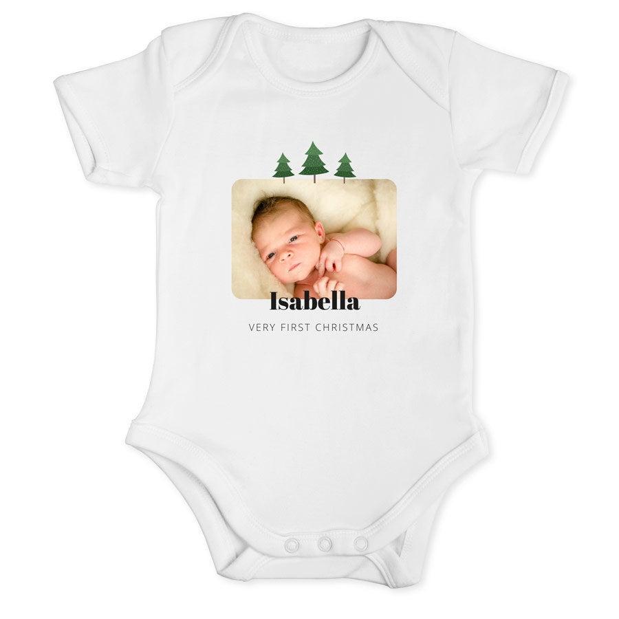 Individuellbabykind - Babybody Weihnachten Langarm Weiß 62 68 - Onlineshop YourSurprise