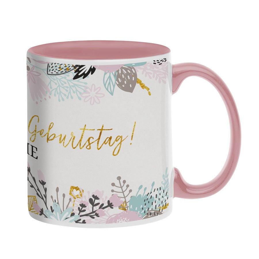 Tassen beschriften - Tasse mit Namen - Rosa