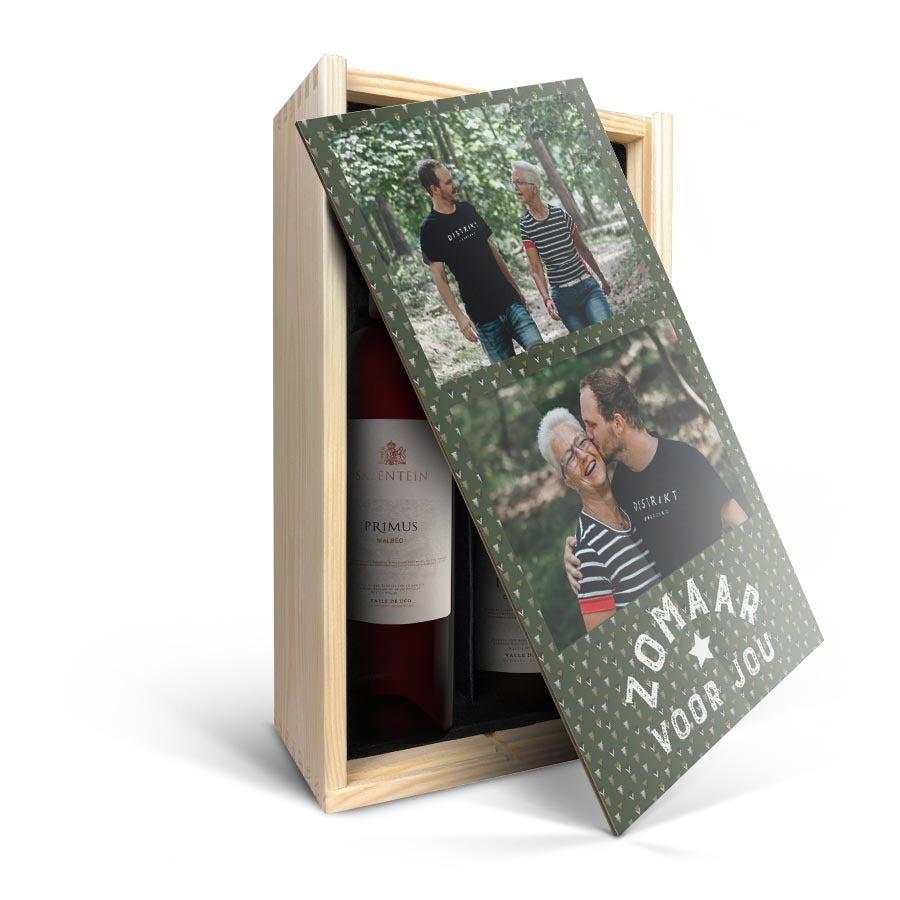 Wijnpakket in bedrukte kist - Salentein Primus Malbec en Chardonnay