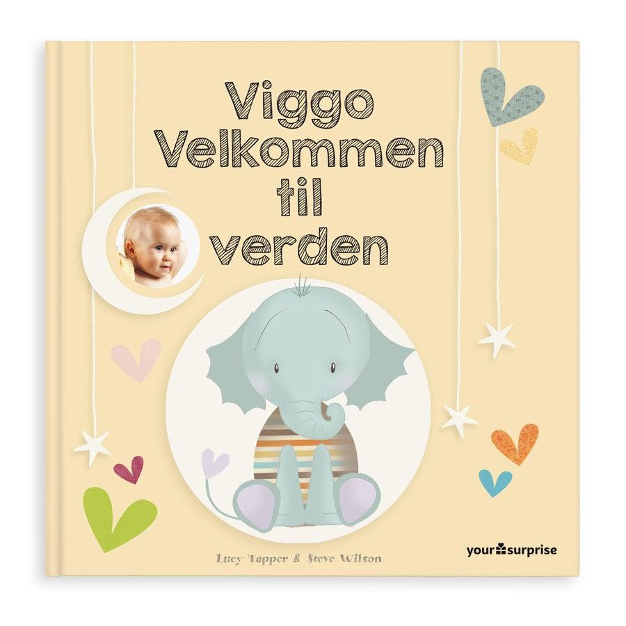 Babybog med navn - Velkommen til verden - Hårdt omslag