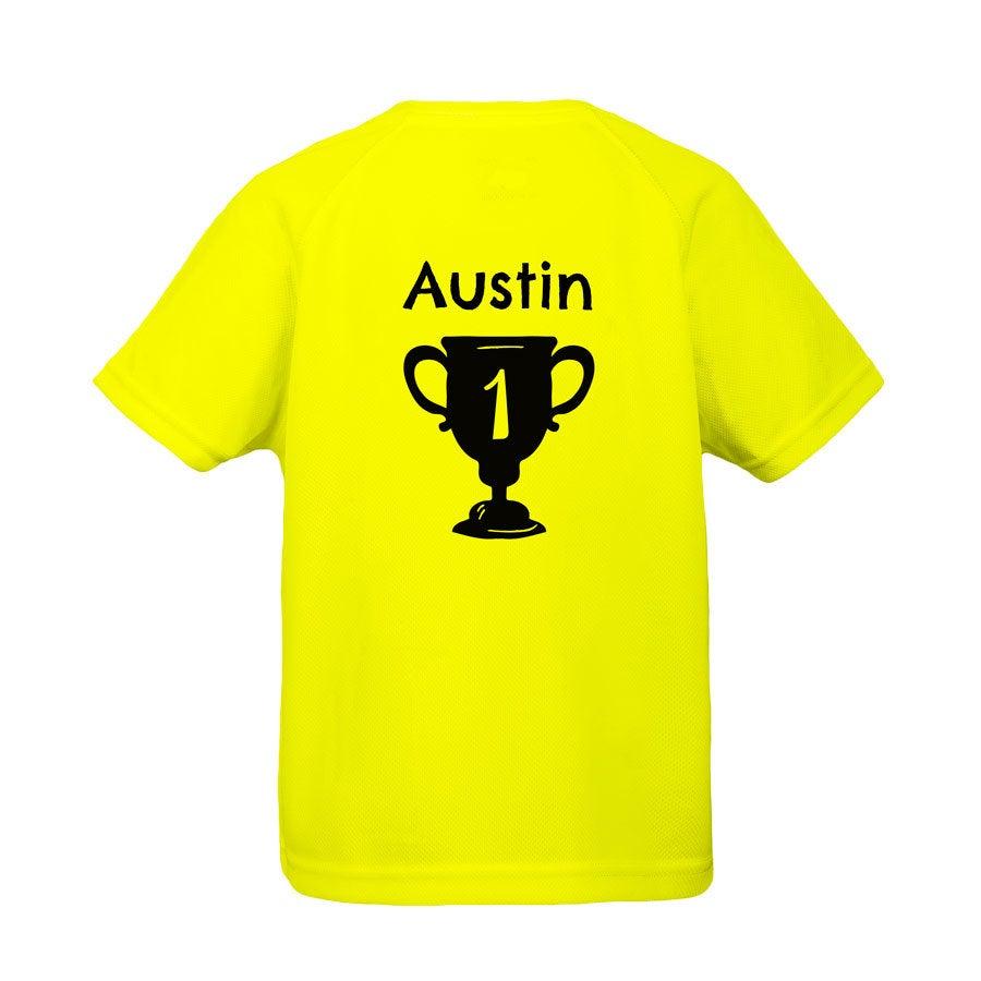Barn sport t-skjorte - Gul - 4 år