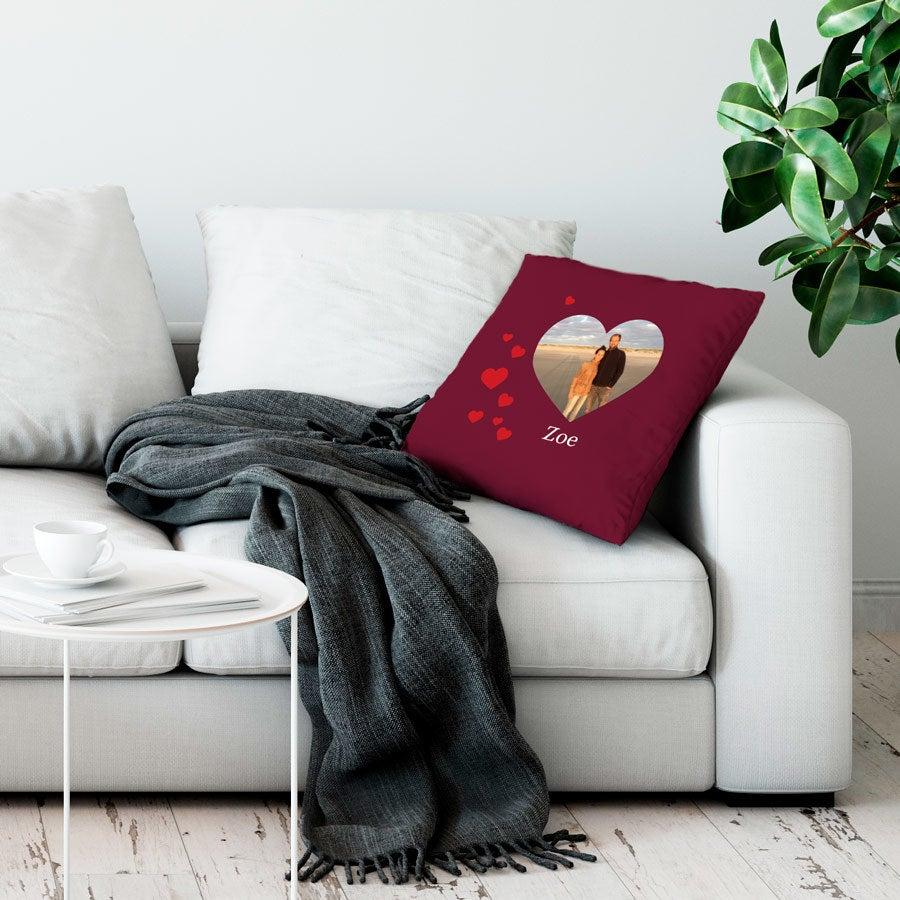 Love Throw tyyny - suuri täynnä - Burgundy
