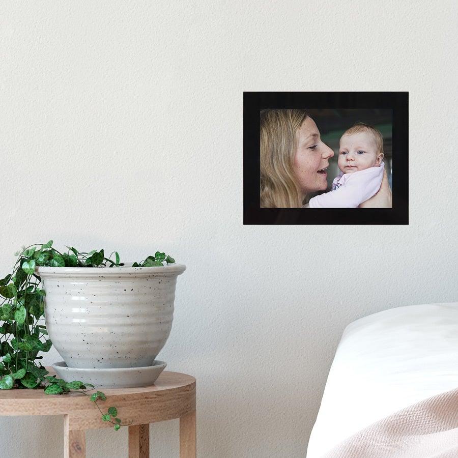 Cadre photo en verre - Noir - 18x13 cm