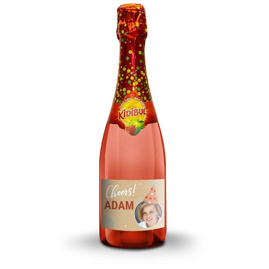 Champagne sin alcohol personalizada para niños - Kidibul