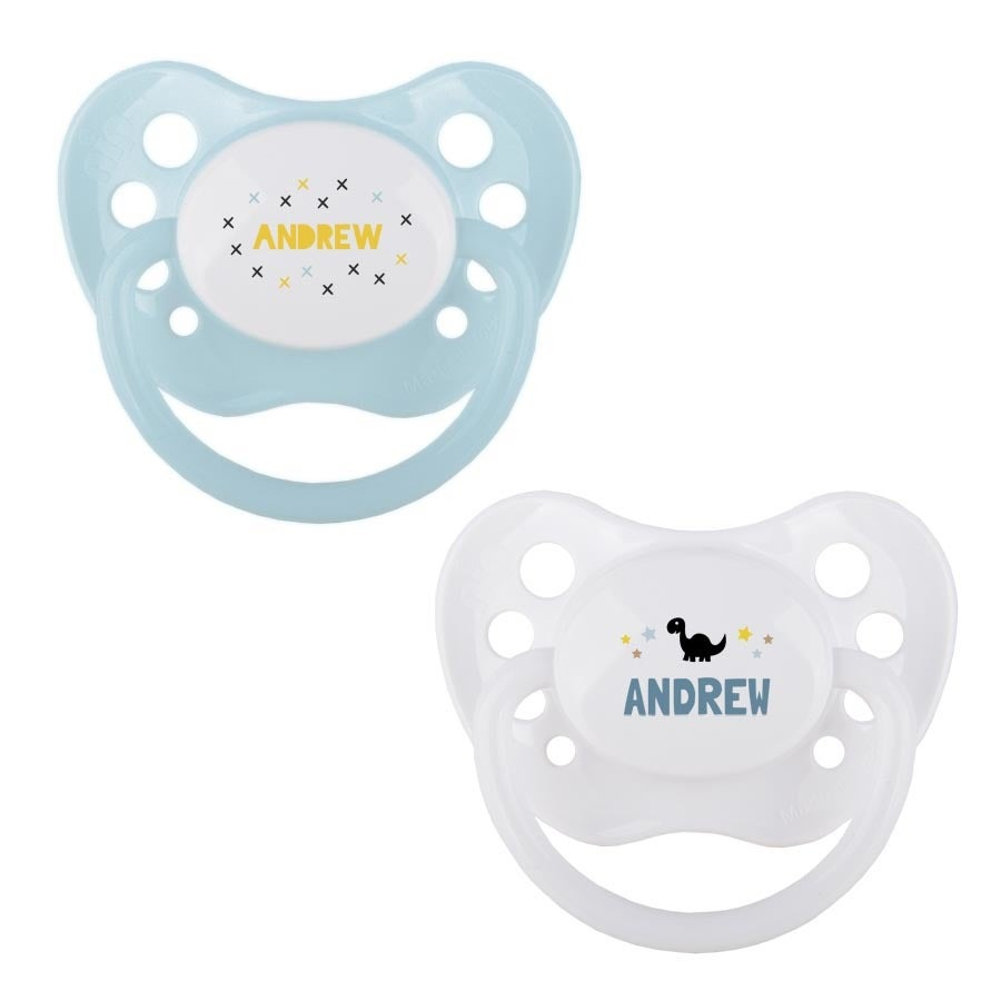 Pacifiers - Set of 2 - White & Blue