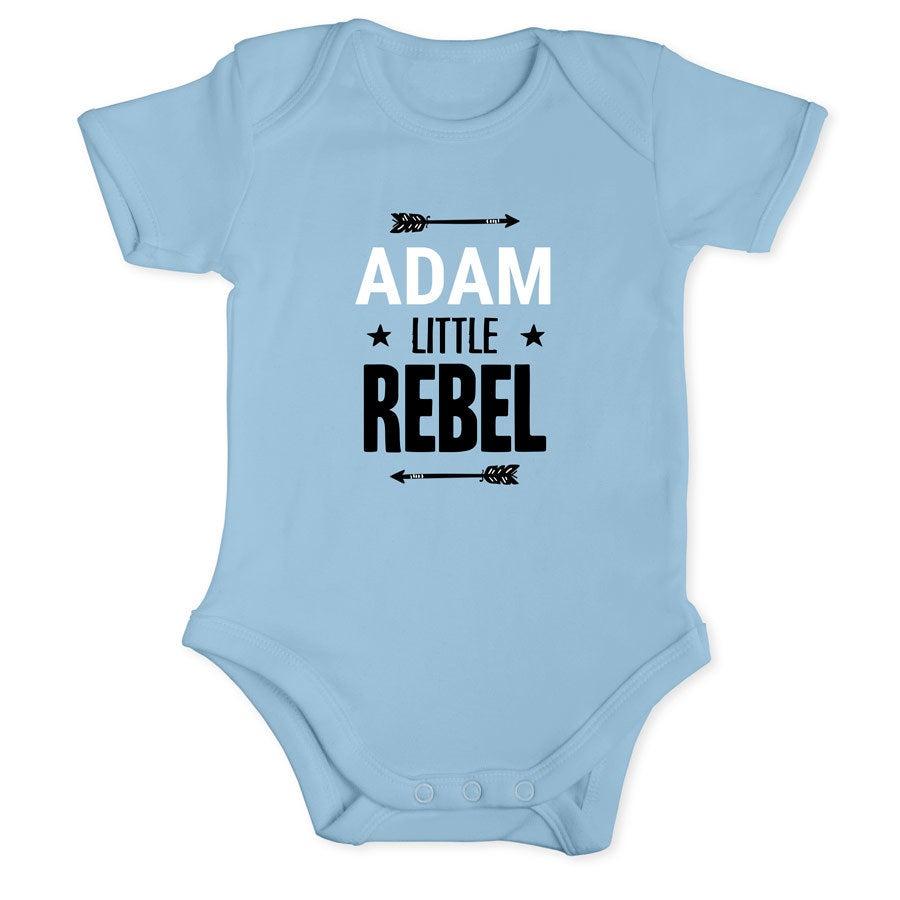 Baby onesie - kort erme - Baby blå - 50/56