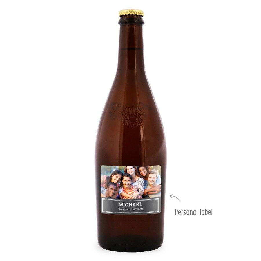 Bottle Duvel Moortgat - label