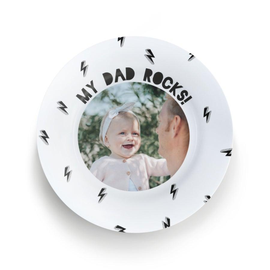 Prato personalizado - Dia do pai