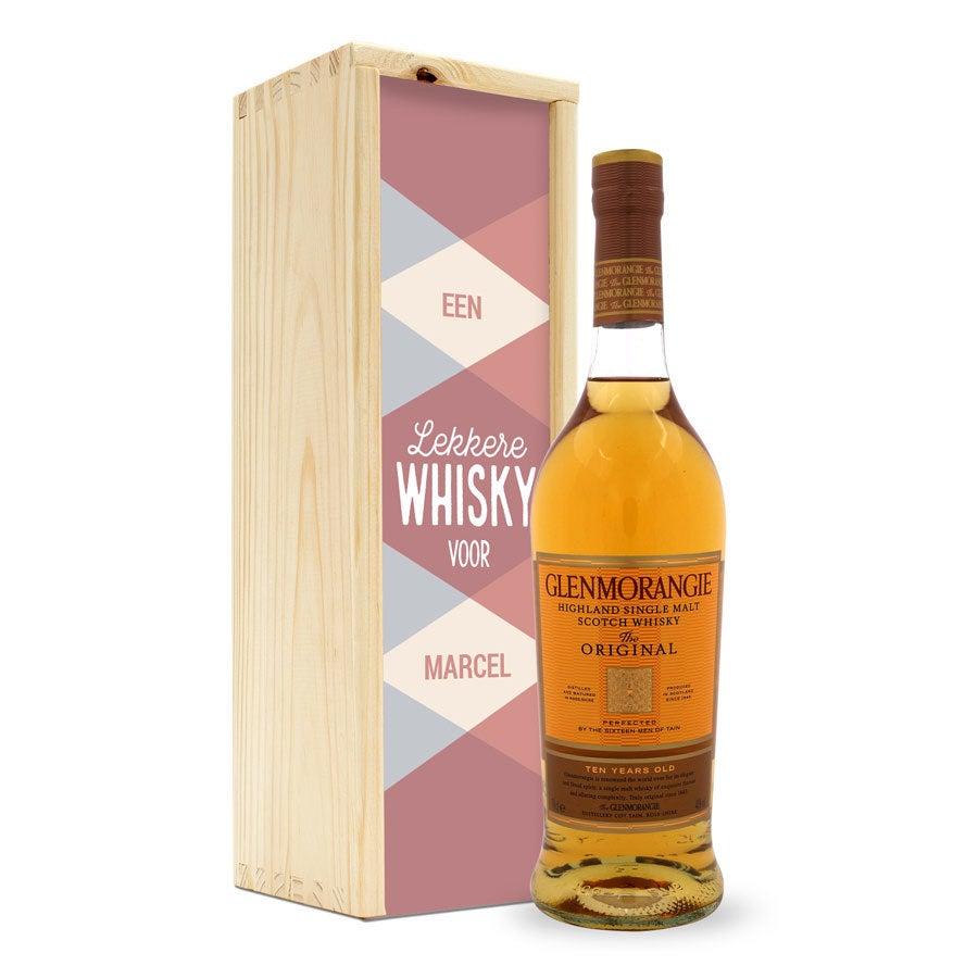 Whisky in bedrukte kist - Glenmorangie