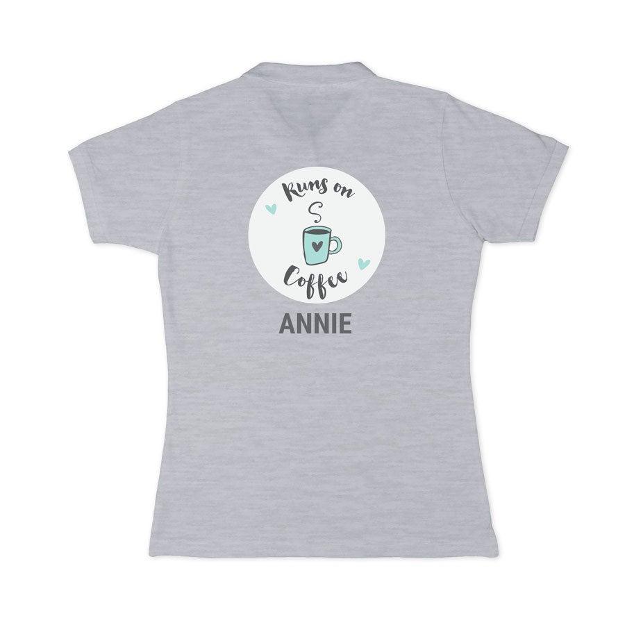 Polo skjorte - Kvinner - Grå - S
