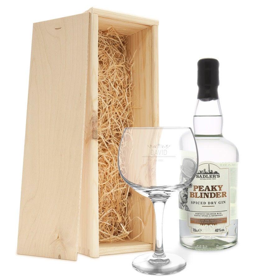 Peaky Blinders gin set - s rytým pouzdrem