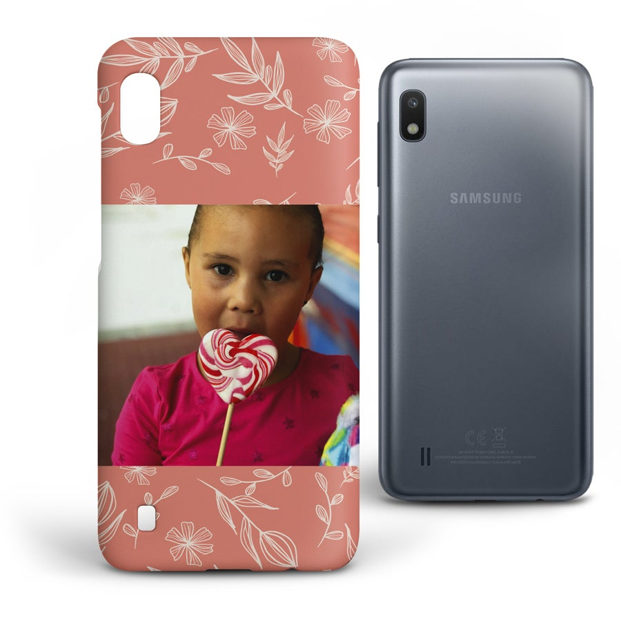 Personlig mobildeksel - Samsung Galaxy A10 - Heldekkende trykk