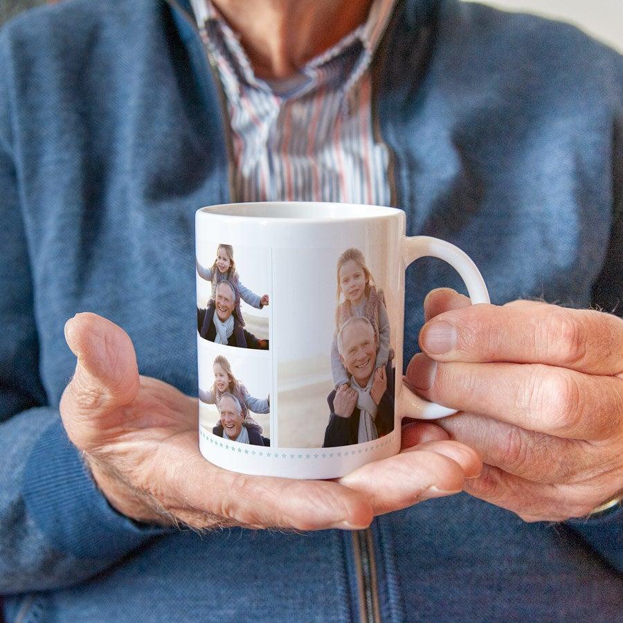 Grand-Père Frère grampy Photo Mug Personnalisé Tasse Cadeau Anniversaire WOW Tile