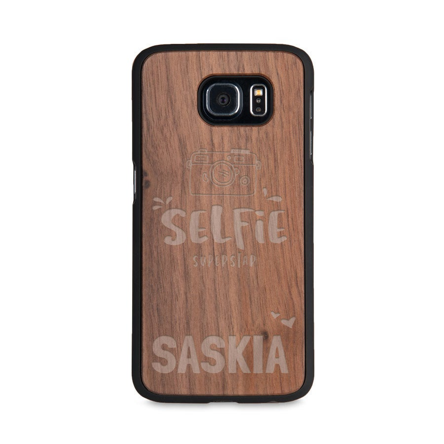 Handyhülle Holz mit Gravur - Samsung Galaxy s6