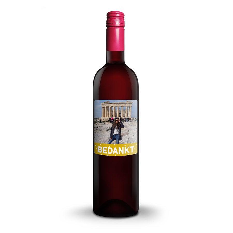 Wijn met bedrukt etiket - Oude Kaap - Rood