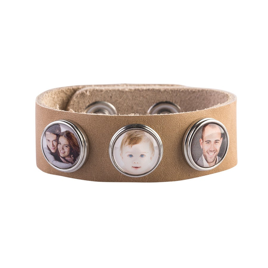 Berlockarmband Stort - Beige (1)