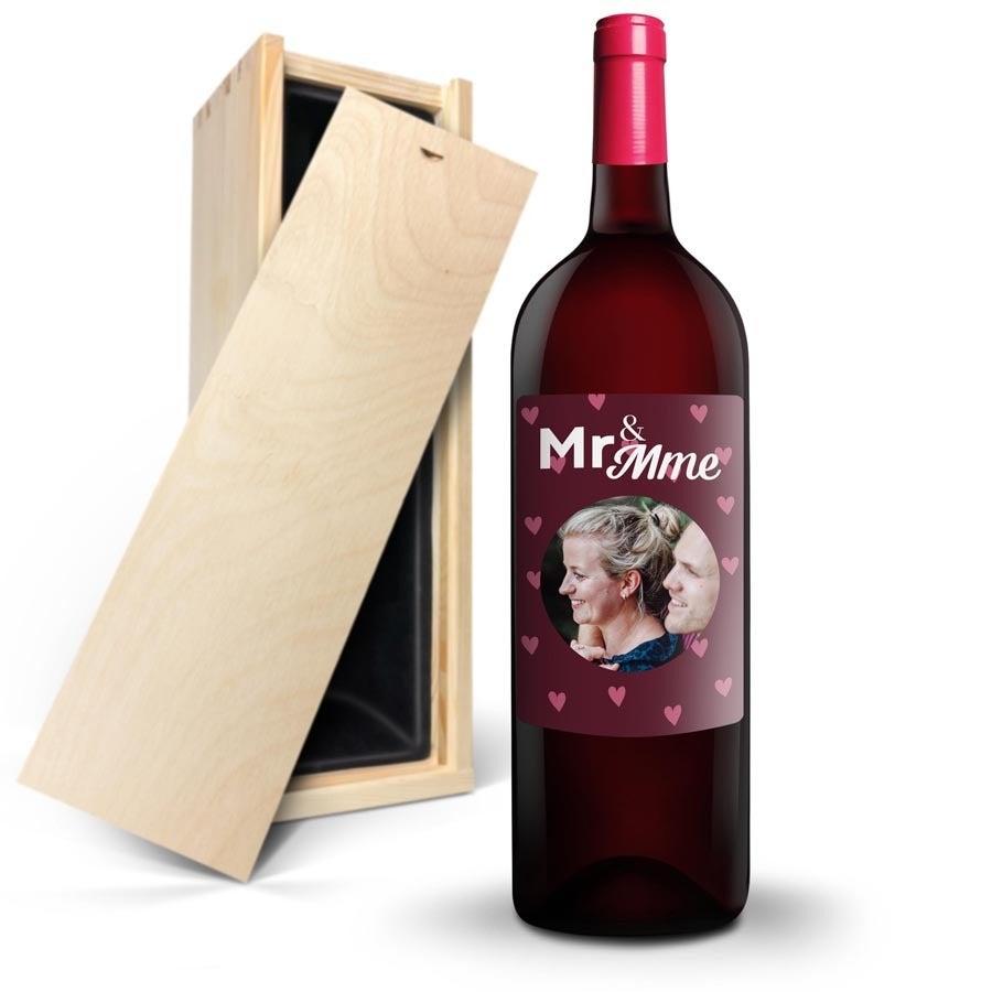 Bouteille de vin Ramon Bilbao Crianza Magnum avec étiquette personnalisée