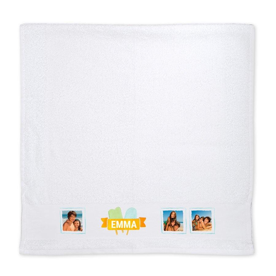 Handtuch mit Foto - Weiß