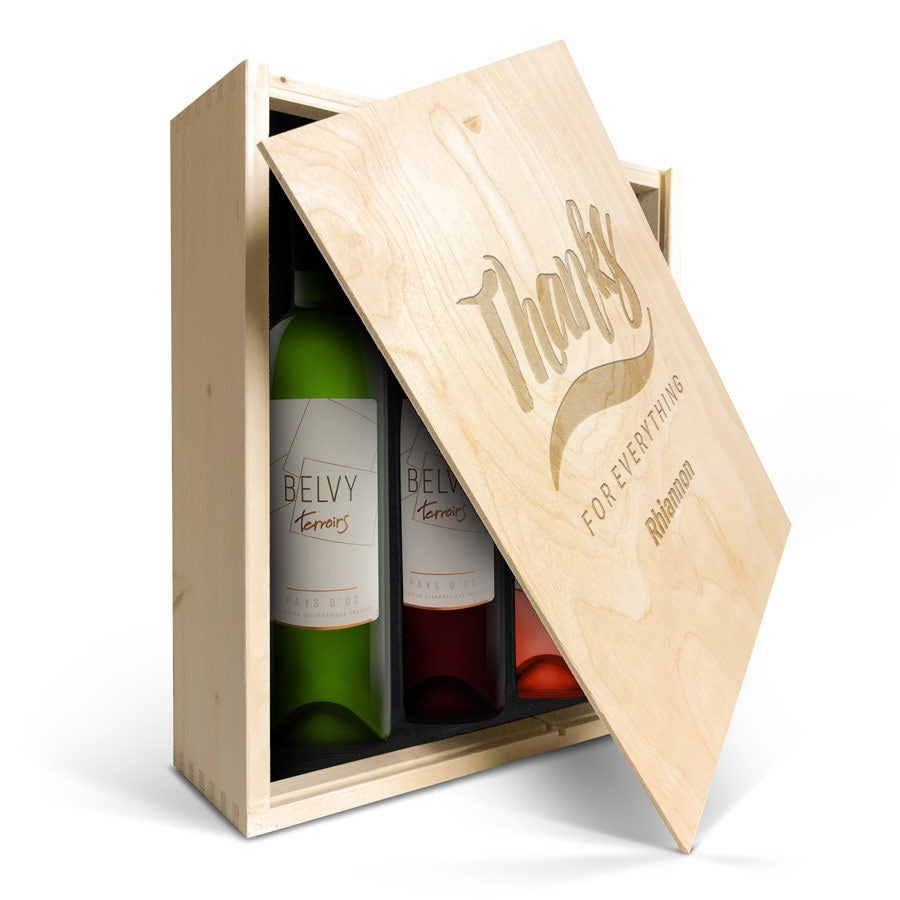 Wine set in case - Belvy - White, red and rosé