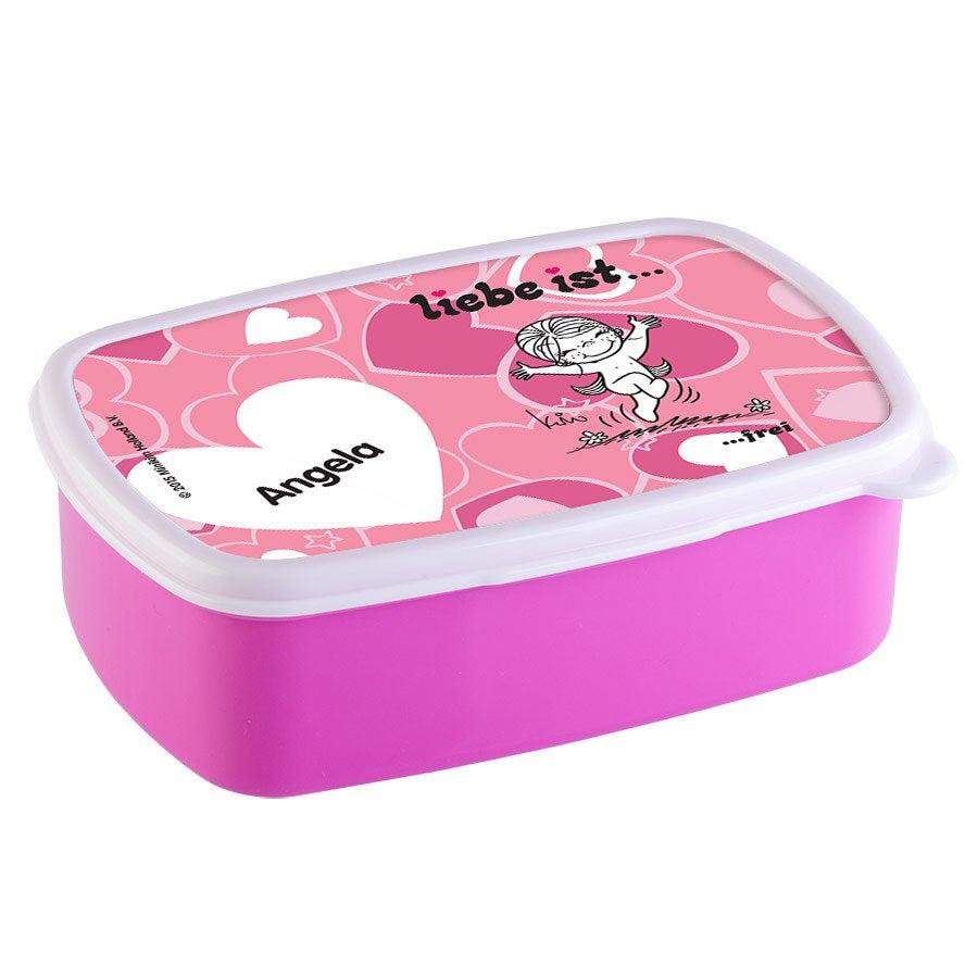 Individuellküchenzubehör - Brotdose Liebe ist... Rosa - Onlineshop YourSurprise