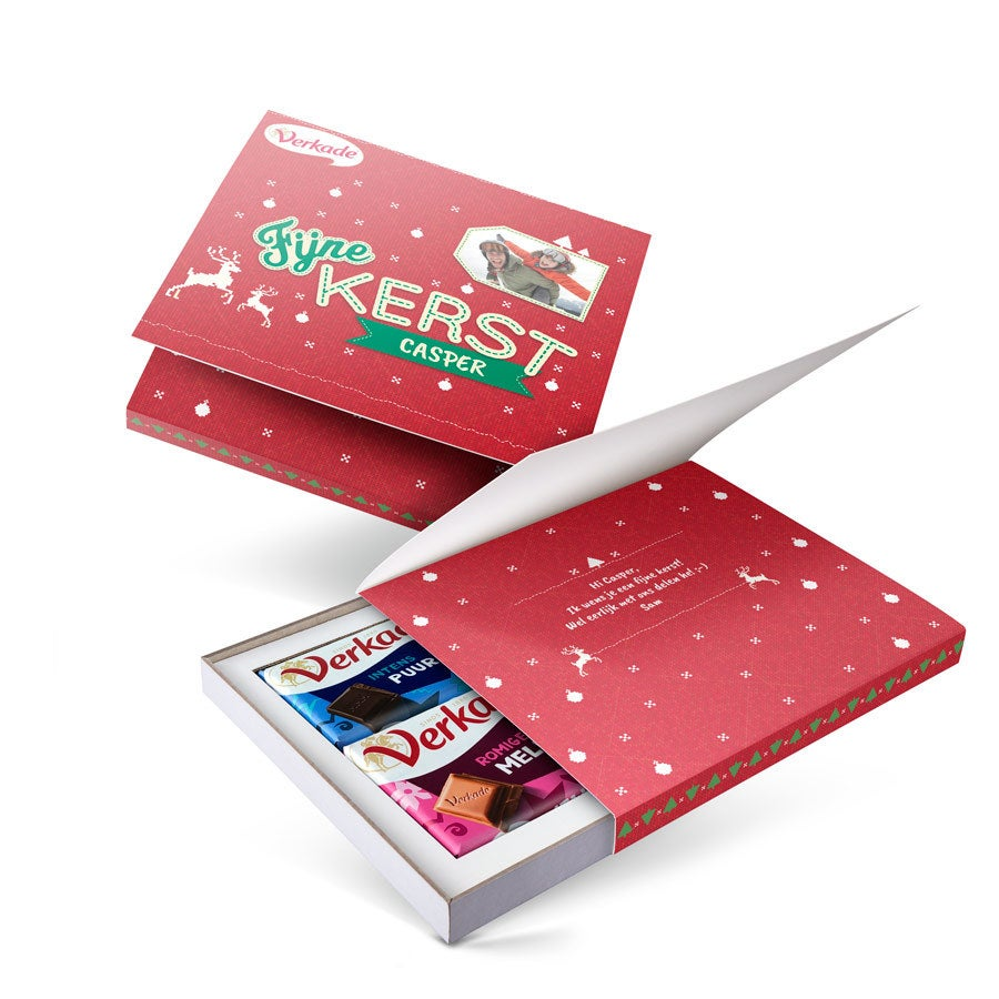 Persoonlijke Verkade giftbox - Kerst - 2 repen