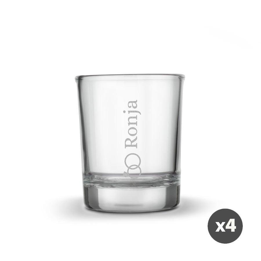 Individuellküchenzubehör - Schnapsglas mit Gravur 4 Stück - Onlineshop YourSurprise