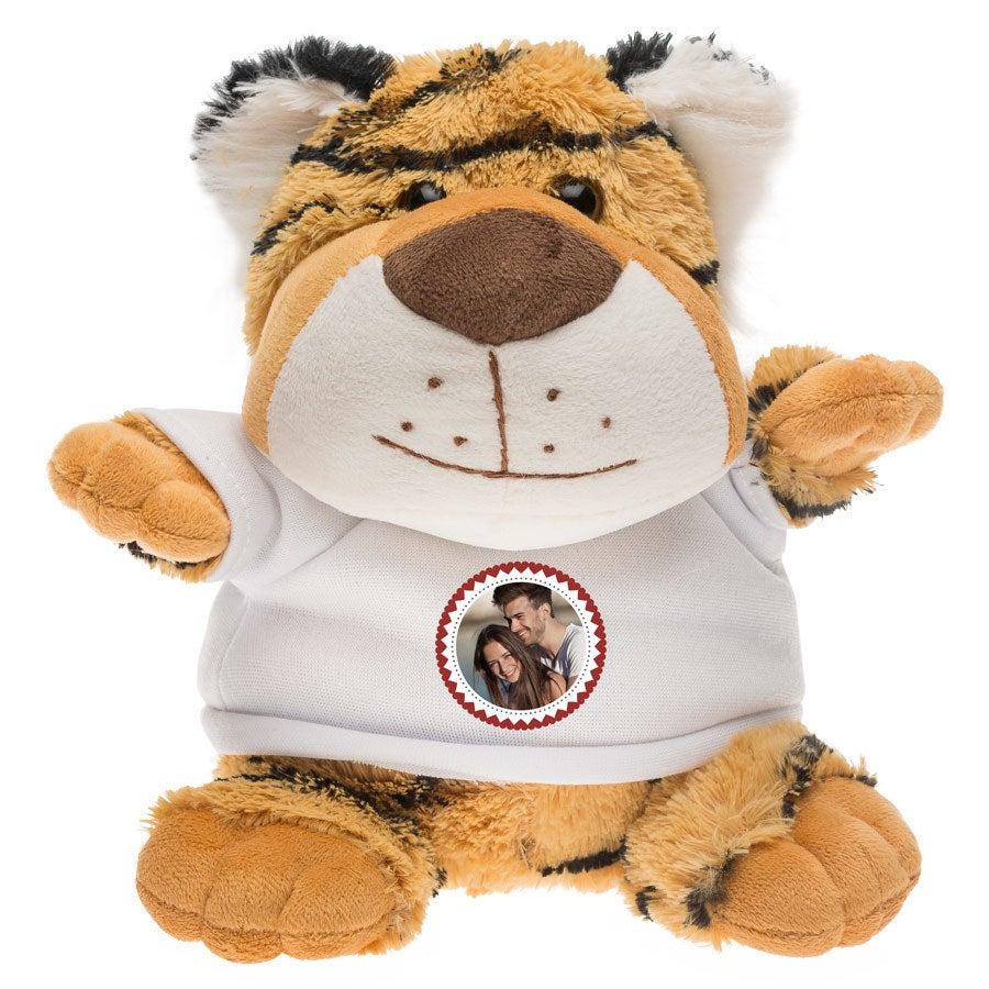 Peluche con camiseta personalizada - Tigre