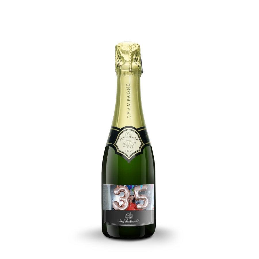 Champagne met bedrukt etiket - René Schloesser (375ml)