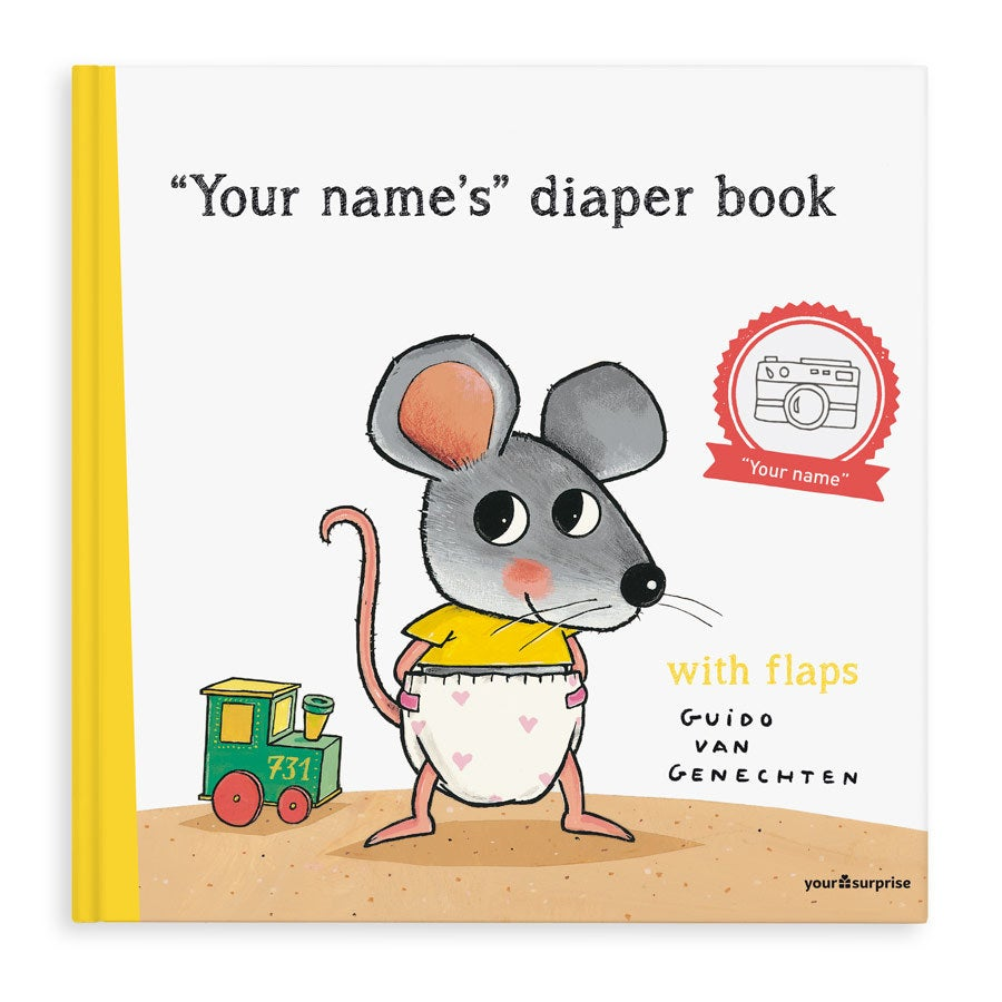 Book with name - The Diaper Book - XXL lift the flap book