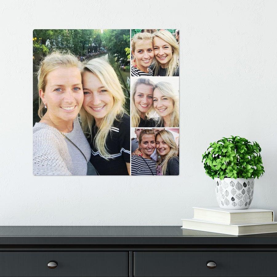 ChromaLuxe Alumiininen valokuvapaneeli - Harjattu (40x40cm)