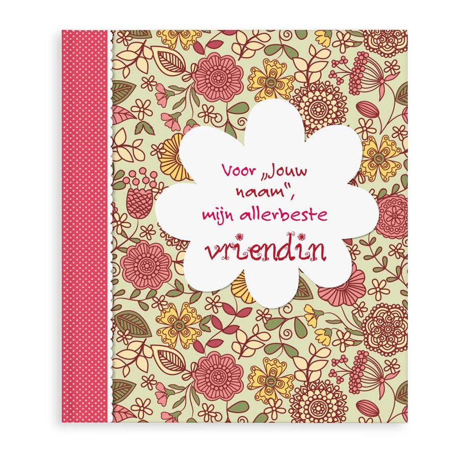 Boek met naam - Voor mijn allerliefste vriendin - Hardcover