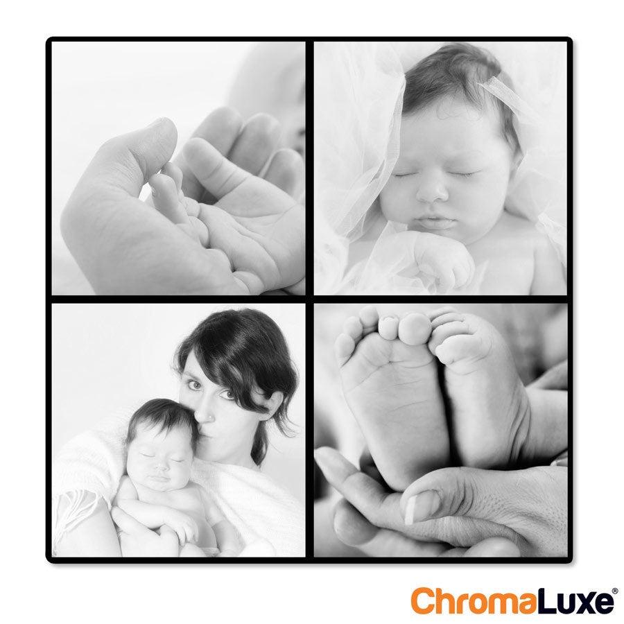 Instagram Collage auf Aluminium - Chromaluxe - Weiß (20x20)